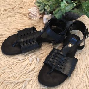 Marc Fisher low gladiator inspired leather sandals